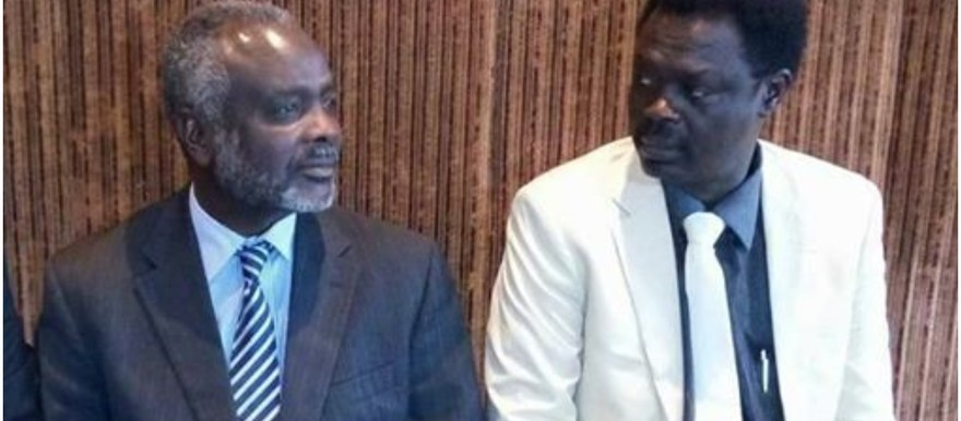Jibril Ibrahim, leader of the Justice and Equality Movement (L) and Minni Minawi, leader of the Sudan Liberation Movement (File photo)