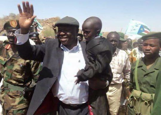 SPLM-N leader Abdelaziz El Hilu in the Nuba Mountains (Social media)
