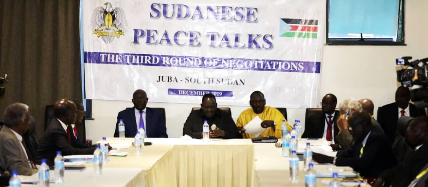Opening of the third round of the Sudan peace talks in Juba yesterday (RD)