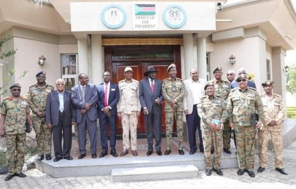 The peace negotiations team of the Sudanese government in Juba, December 18, 2019 (SUNA)