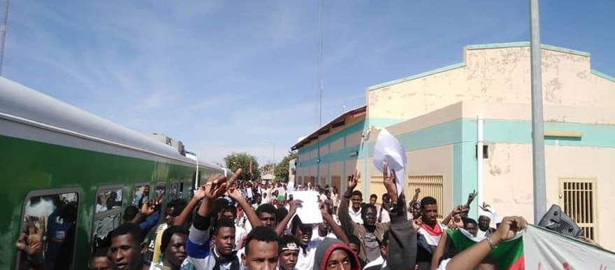 Farmers from El Gezira demanded that the irrigation scheme be revived yesterday (Social media)