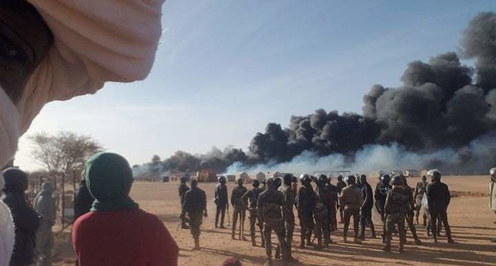 The camp of the Sudanese refugees near Agadez in Niger burned down entirely (Social media)