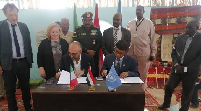 Signing of a new UNDP-Italy agreement in Khartoum, March 6, 2020 (Twitter account of Italian FA Deputy Minister Emanuela Claudia Del Re)