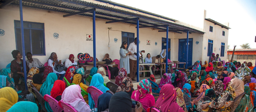 A meeting of women and girls in Darfur (file photo)