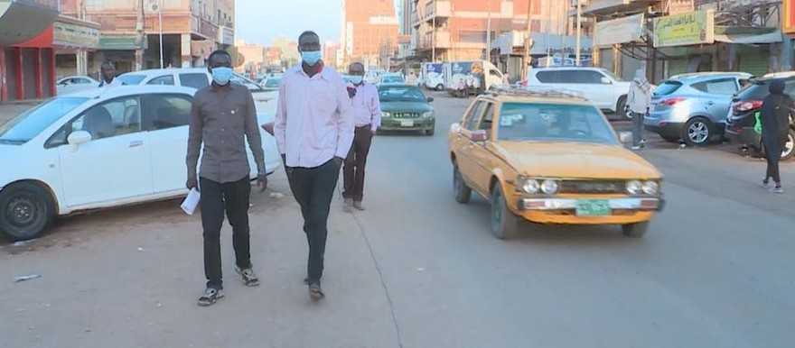 Less pedestrians in downtown Khartoum because of the coronavirus outbreak (Social media)