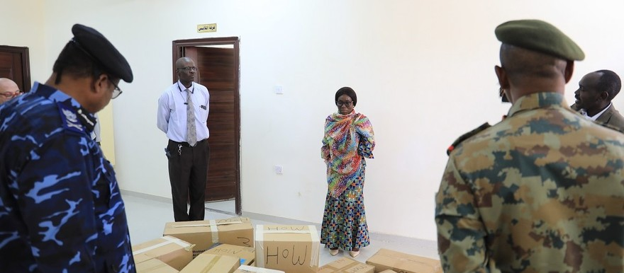 Unamid supports the newly established Covid-19 Isolation Centre in Zalingei, Central Darfur (Amin Ismail / Unamid)