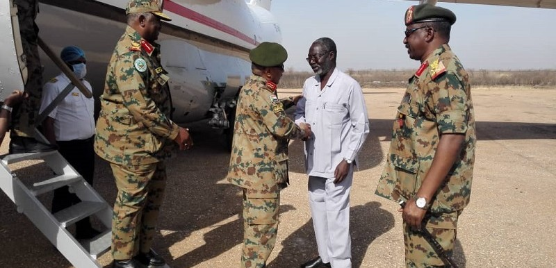 A delegation of the Joint Chiefs of Staff of the Sudan Armed Forces arrives at the South Kordofan capital (SUNA)