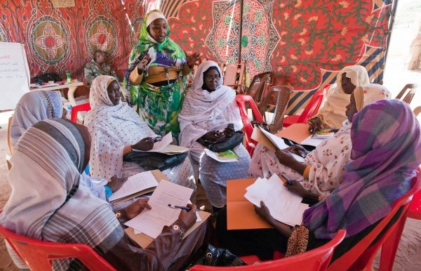 Women in Malha, North Darfur, attend a workshop on UNSCR 1325 on Women, Peace and Security, July 2017 (Sojoud Elgarrai / Unamid)