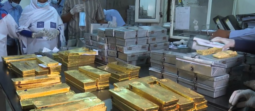 Sudan's first batch of regulated gold export (Social media)