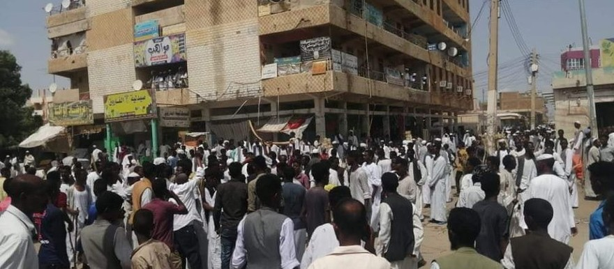 Tension in the centre of Kassala yesterday afternoon after fighting broke out (Social media)