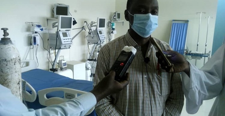 A doctor in Khartoum being interviewed about COVID-19 (Social media)
