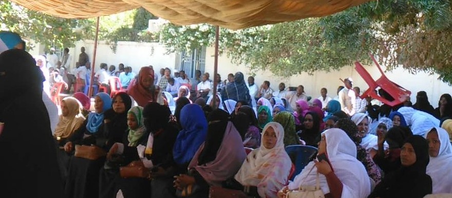 Sit-in of Kassala teachers protesting against