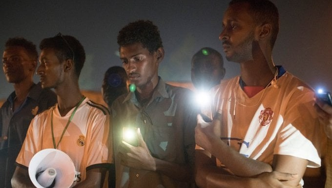 Vigil in August this year to remember Sudanese protestors who went missing following a violent crackdown in Khartoum on June 3 last year (Social media)