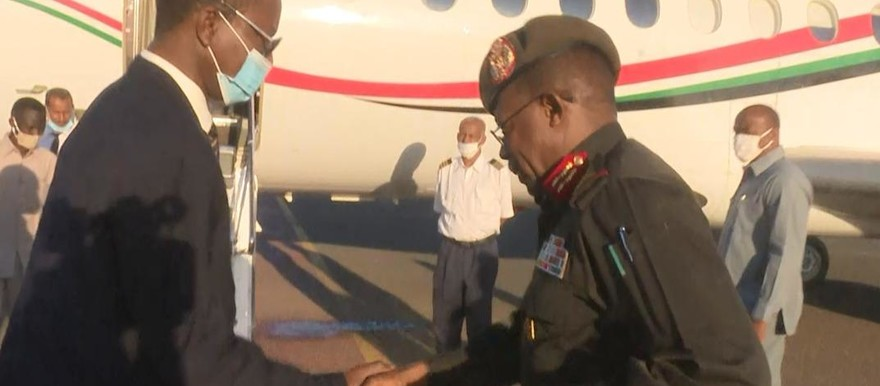 Sovereign Council member, Lt Gen Shamseldin Kabashi R) leaves for Juba, accompanied by Omar Gamreldin, FA Minister, Osama Saeed, chairperson of the Beja Opposition Conference, and Khaled Idris, leader of the eastern Sudanese Popular Front for Liberation and Justice (SUNA)