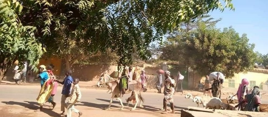 People fleeing bloody attacks on the Kerending camps for the displaced (Social media)