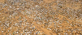 Aerial view of Kalma camp for the displaced near Nyala, capital of South Darfur (File photo)