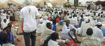 A meeting of the Darfur Displaced and Regugees Association in Kalma camp, South Darfur (file photo)