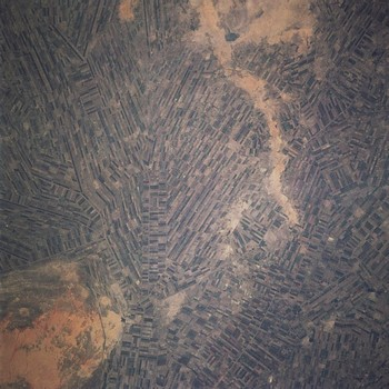 El Gezira Scheme in Sudan, between the Blue and White Niles south of Khartoum, from above (file photo)