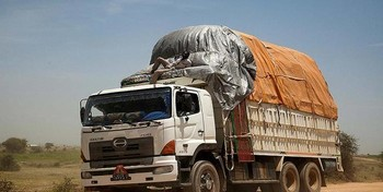 Commercial vehicles are an essential logistical link to supply remote areas of Sudan (File photo)