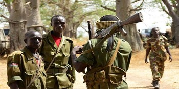 Members of the SPLM-N before an attack on the Sudanese army (file photo)