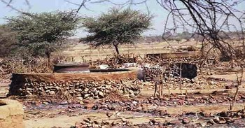 A burnt village in Darfur (file photo)