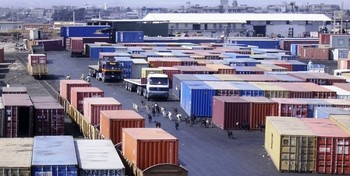 Containers at Port Sudan (file photo)