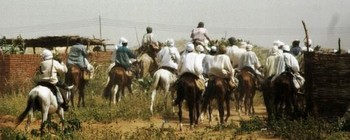 Militiamen in El Fasher, North Darfur (file photo)
