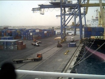 Container terminal in Port Sudan (File photo)