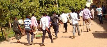Militant students of the ruling National Congress Party in Khartoum (RD)