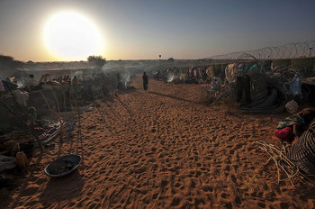 A camp for displaced people in North Darfur (Unamid)