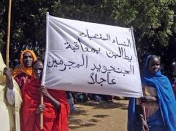Women in Sudan protest against the prevalence of sexual violence (file photo)
