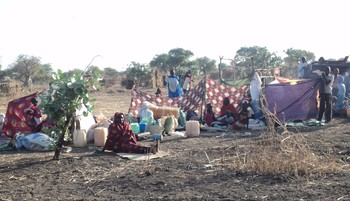 Displaced prepare for the night in Jimam, Kurmuk locality, Blue Nile state (Radio Tamazuj)