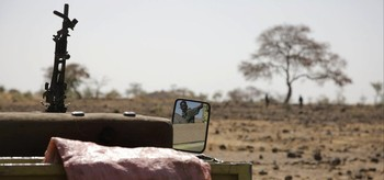 Gunmen in vehicle in Darfur (file photo)