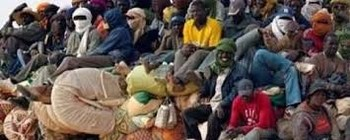 Sudanese citizens after returning from Libya (file photo)