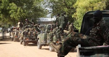 Sudanese army troops in South Kordofan (James Akena/Reuters)