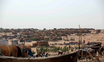Newly displaced, mostly women and children, continue to arrive at Zamzam camp in Darfur. (Hamid Abdulsalam/Unamid).