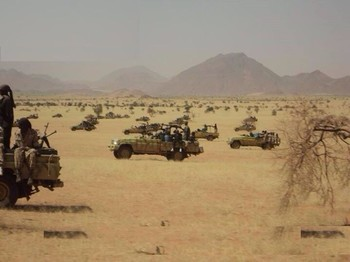 RSF troops in their armed vehicles (Sudan Armed Forces)