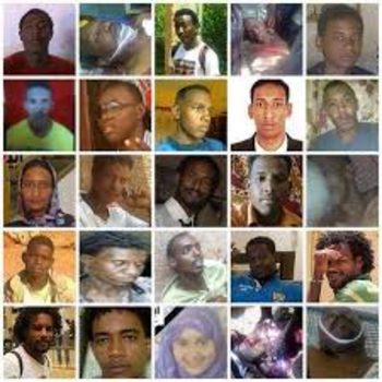Photos of demonstrators who were killed during the September 2013 street protests against the lifting of fuel subsidies (sudaneseonline)