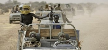 SLM combatants in Darfur (file photo)