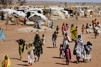 File photo: Otash camp for the displaced in Darfur (worldvision.com.au).