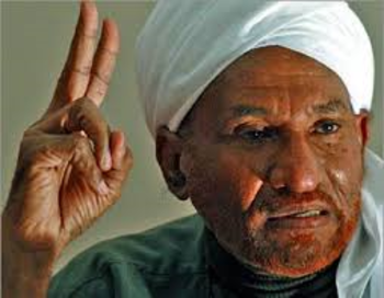 The President of Sudan's National Umma Party, Imam El Sadig El Mahdi (File photo)