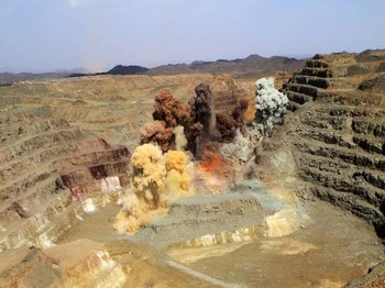 A quarry at the Ariab mine in eastern Sudan's Red Sea state (File photo)