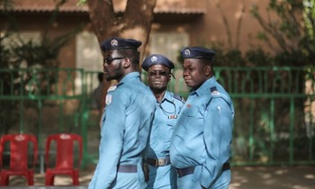 Police officers in Khartoum (Mosa'ab Elshamy/AP)