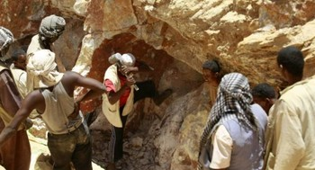 Miners in Sudan (File photos)