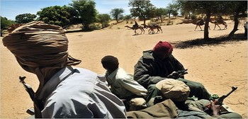 Gunmen in Darfur (file photo)