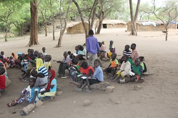 A school class in Yabous, Blue Nile state (File photo)