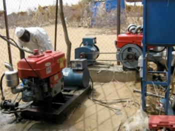 Generator used to pump water in Nyala (Jewish World Watch)