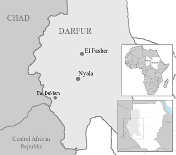 Um Dukhun in Central Darfur, close to the border with Chad (MSF)
