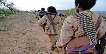 File photo: Armed militiamen in the Horn of Africa