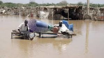 File photo: camp for displaced flooded by rains
